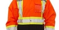 manteau imperméable ICON TIngley avec bande réfléchissante orange
