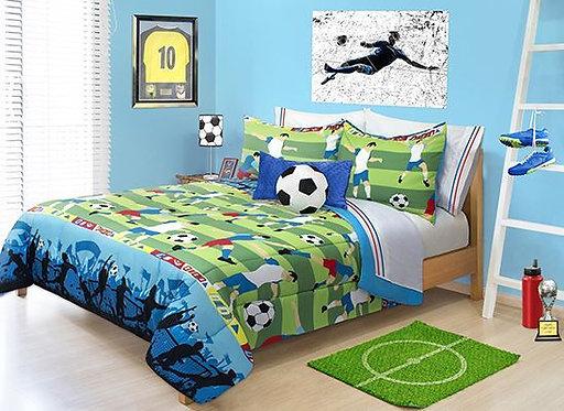 Ens. d'édredon imprimé Soccer - Lit simple | 60516.2T.12