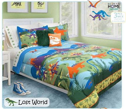 Ens. d'édredon et couvre-oreillers Lost World - Lit simple | 60516.2T.08