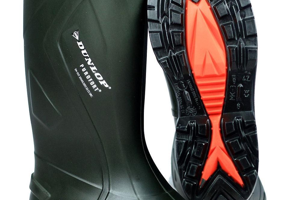 Botte Dunlop Puroft + avec cap verte