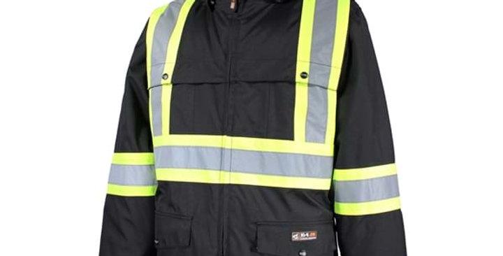 manteau doublé avec bandes réfléchissantes 10/4 JOB noir