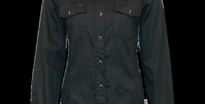 chemise travail extensible PF430 noir (paquet de 2)