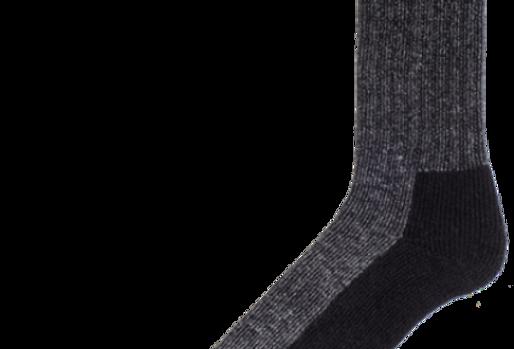 bas de travail en laine pied double Duray noir moyen (2 paires)