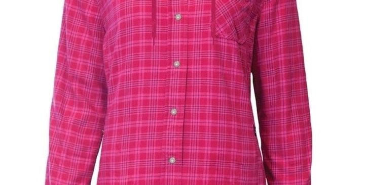 chemise en flanelle doublée à capuchon PF460 rose