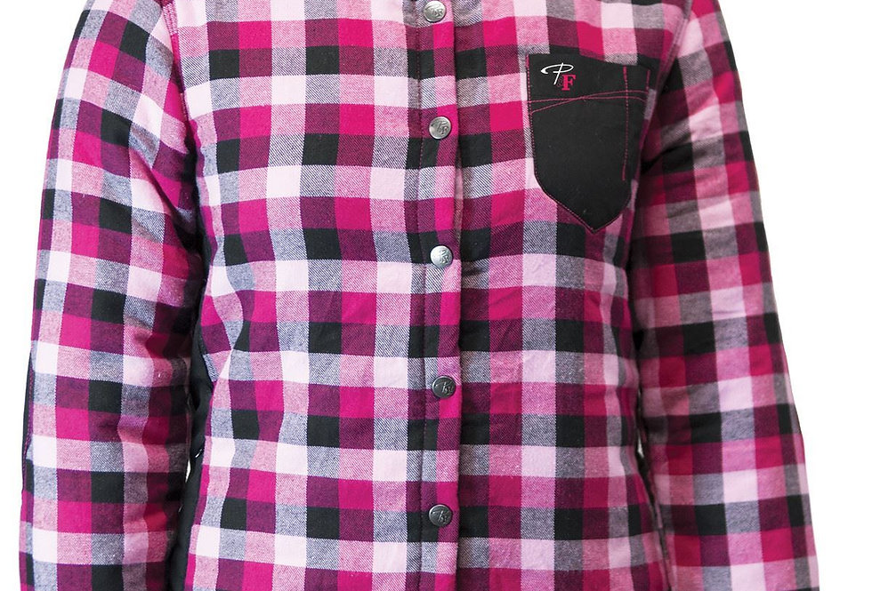 chemise à carreaux rembourrée PF410 framboise