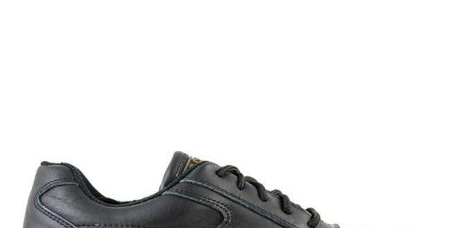 soulier travail en cuir noir J.B. Goodhue