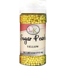 Sugar Pearls 3-4mm Yellow 3.8 oz de CK Products | 78-522Y