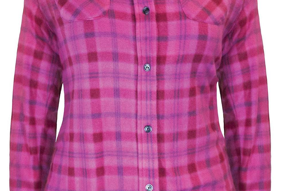 chemise en polar à carreaux PF420 rose
