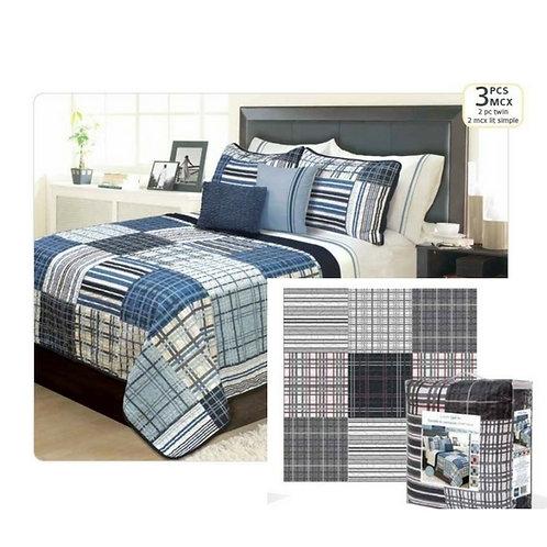 Ens. de courtepointe et couvre-oreillers - lit simple - Duncan   60.501.2T