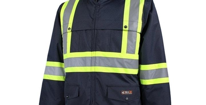 manteau doublé avec bandes réfléchissantes 10/4 JOB marine/bleu