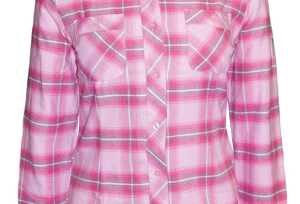 chemise en flanelle à carreaux PF470 rose