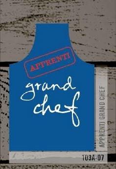 Tablier apprenti grand chef bleu | 103A-07