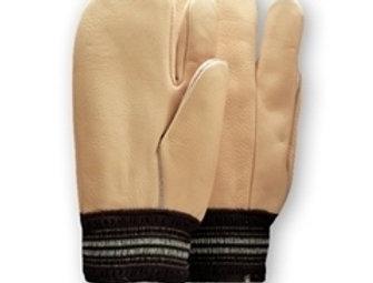 gant 2 doigts cuir de vache doublé