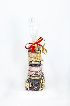 Emballage 3x 45ml (fleur de sel, café et chocolat)