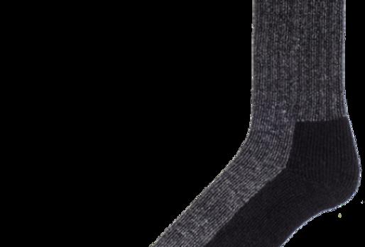 bas de travail en laine pied double Duray noir (2 paires)