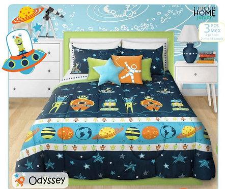 Ens. d'édredon et couvre-oreillers imprimés Odyssey - Lit simple |  60516.2T.09
