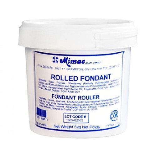 Fondants à Rouler Blanc Vanille 5 KG de Mimac | M2300B