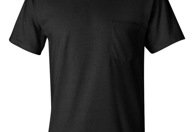 t-shirt 2300 Gildan avec poche noir