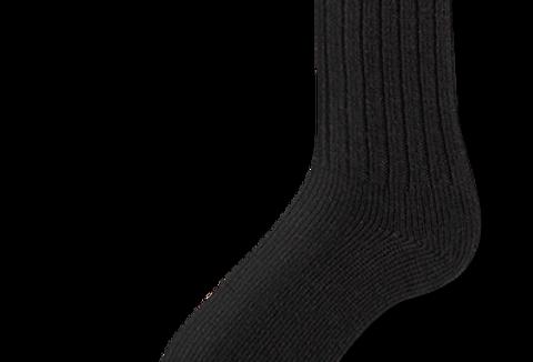 bas travail en laine Duray noir (2 paires)