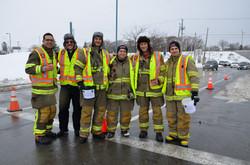 Échelle-O-Thon, les pompiers de Pincourt