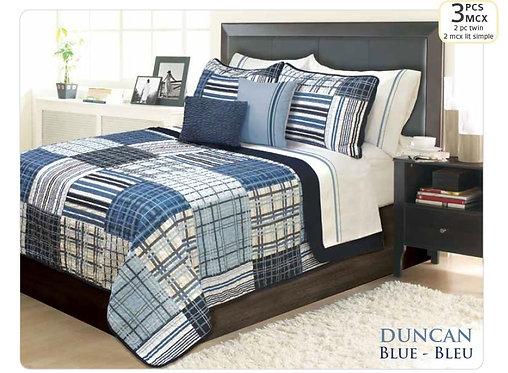 Ens. de courtepointe et couvre-oreillers - lit simple - Duncan | 60501.2T.13