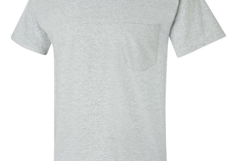 t-shirt 2300 Gildan avec poche gris