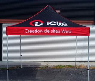 Tente promotionnelle structure