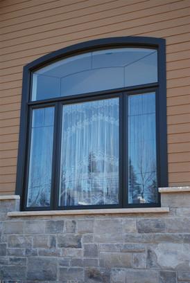 Peinture, Fenêtre, PVC, Couleur : Noir
