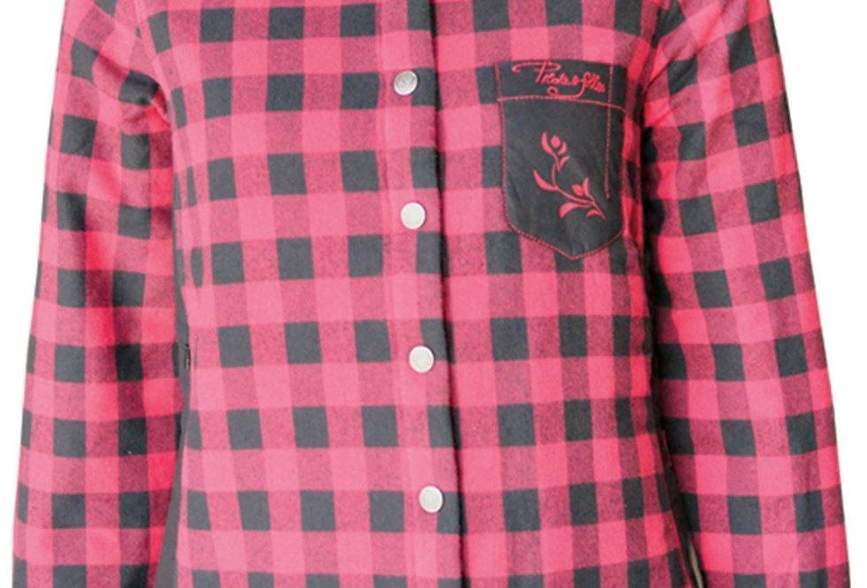chemise à carreaux rembourrée  PF410 rouge