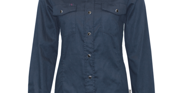 chemise travail extensible PF430 marine (paquet de 2)