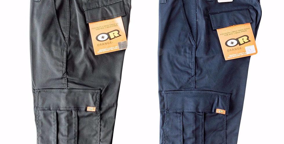 Pantalon cargo extensible travail Orange River marine ou noir