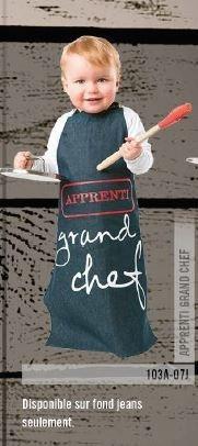 Tablier pour enfant denim apprenti grand chef | 103A-07J