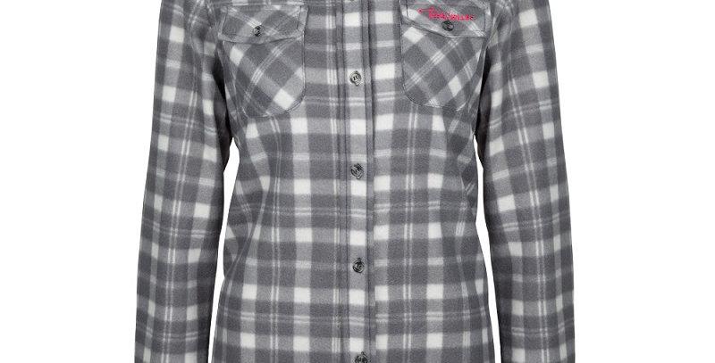 chemise en polar à carreaux PF420 grise