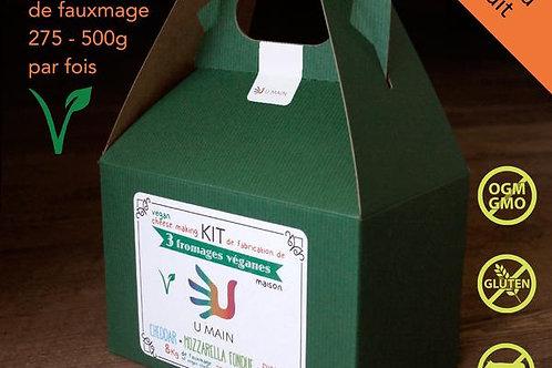 Kit de fabrication de 3 fromages véganes de U MAIN | UMAIN KQVE