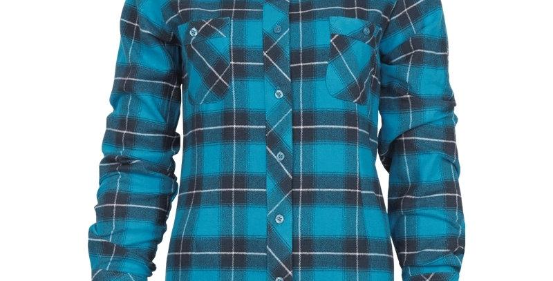 chemise en flanelle à carreaux PF470 bleu