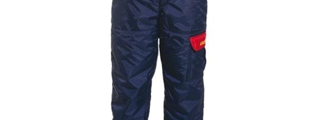 pantalon scie à chaîne doublé bleu Kingtreads