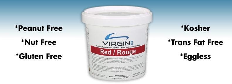 Fondants à Rouler Rouge de Virgin Ice