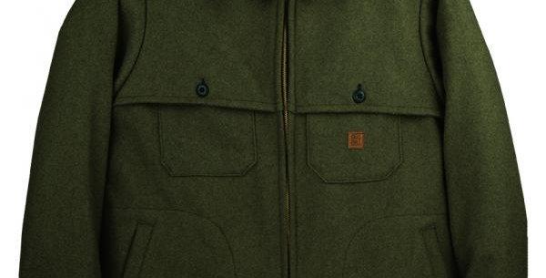 manteau en laine mérinos vert Big BIll 461MER