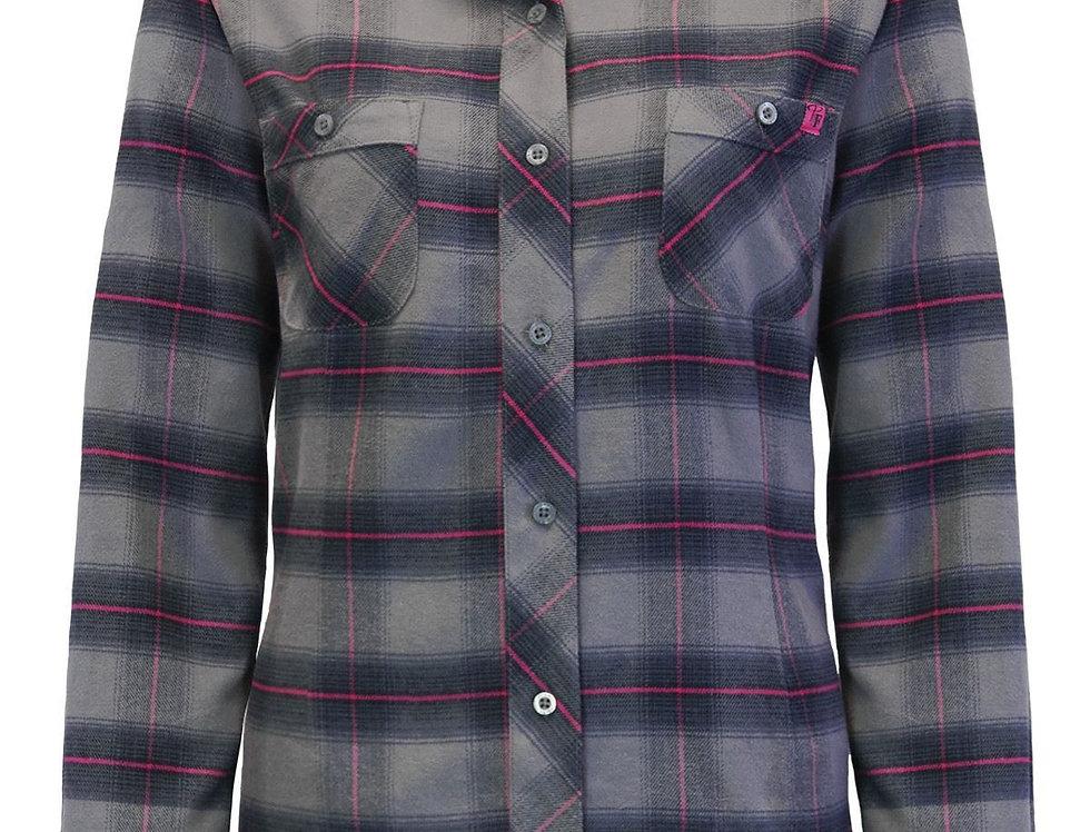 chemise en flanelle à carreaux PF470 gris-mauve