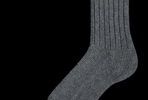 bas travail en laine Duray gris foncé (2 paires)
