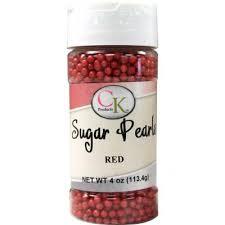 Sugar Pearls Red 4 oz de CK Products | 78-5222R