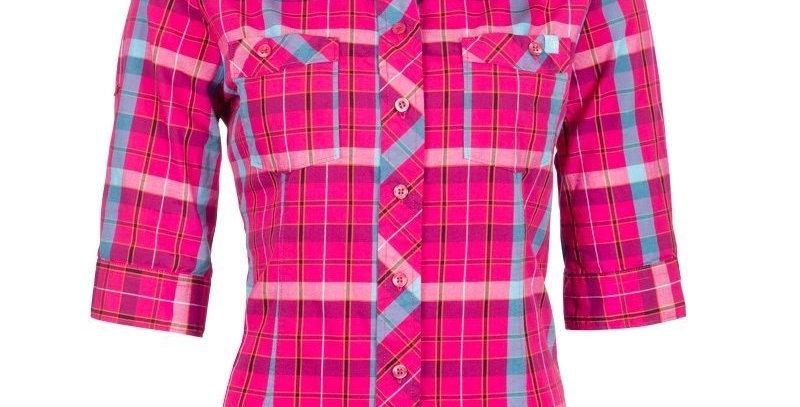 chemise de travail en coton manche 3/4 Pilote et filles rose