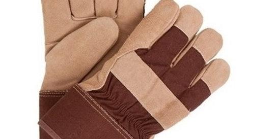 Gants de travail doublés 24-61-BW pour homme en cuir 10/4 JOB