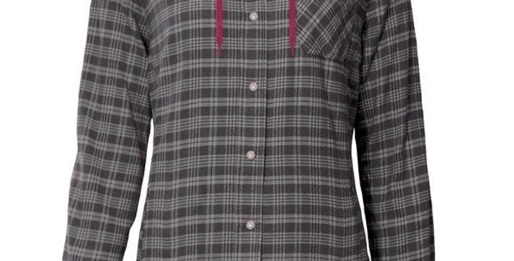 chemise en flanelle doublée à capuchon PF460 gris