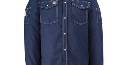 247RS chemise manche longue Big BIll à snap marine/bleu