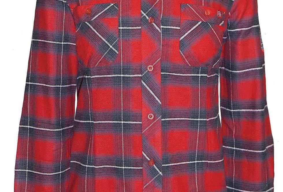 chemise en flanelle à carreaux PF470 rouge