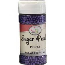 Sugar Pearls Purple 4 oz de CK Products | 78-5222U