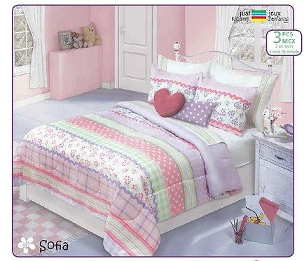 Ens. d'édredon imprimés Sofia - Queen | 60517.3DQ.02