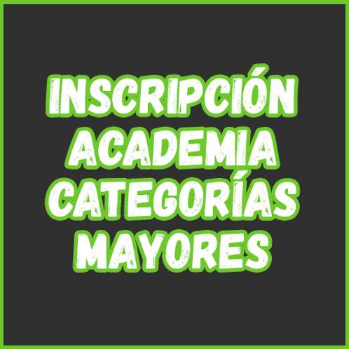 Inscripción - Academia Cat. Mayores