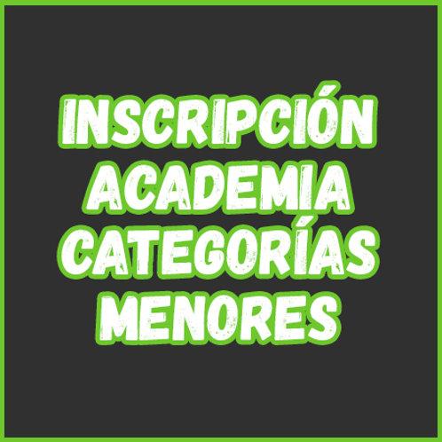 Inscripción - Academia Cat. Menores